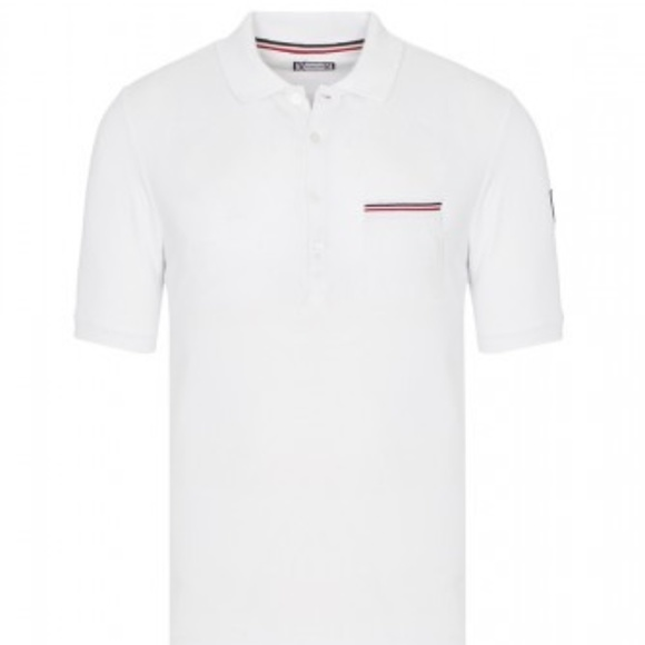 moncler polo shirt mens white
